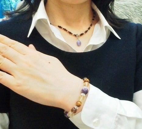 天然石オリジナルブレスレット&シルクコードネックレス~ソニアンブログ~地上に天国を☆-オーダーブレスレット&ネックレス