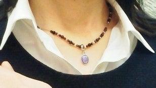 天然石オリジナルブレスレット&シルクコードネックレス~ソニアンブログ~地上に天国を☆-オーダーネックレス4