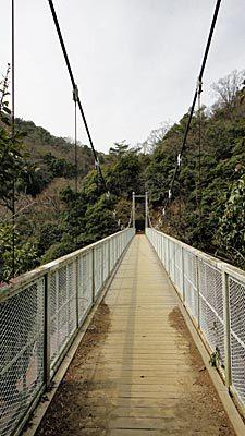 おやまのしゅっぽ 出発進行~♪-天王吊橋