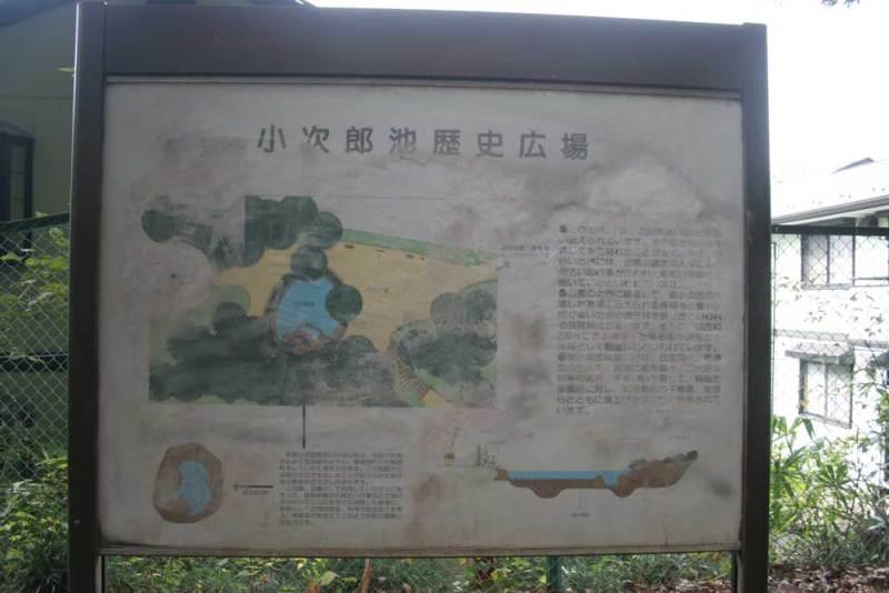 中和田城/小次郎池の説明板
