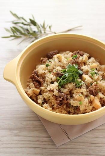 simple-牛肉と筍の炊き込みごはん1