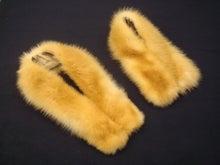 大木毛皮店工場長の毛皮修理リフォーム-黄テン 襟巻き 加工 毛皮 リフォーム