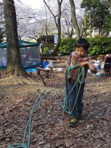 $愛知県みよし市の野外自主保育「みよし もり・そら」のブログ-ひたすら縄をずりずり運ぶ運搬人