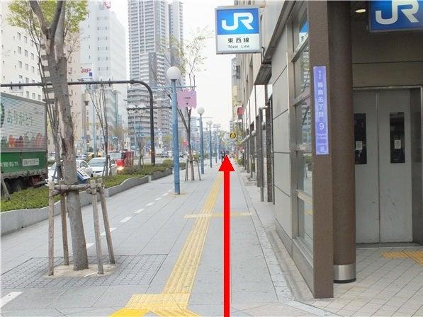 JR東西線横の道