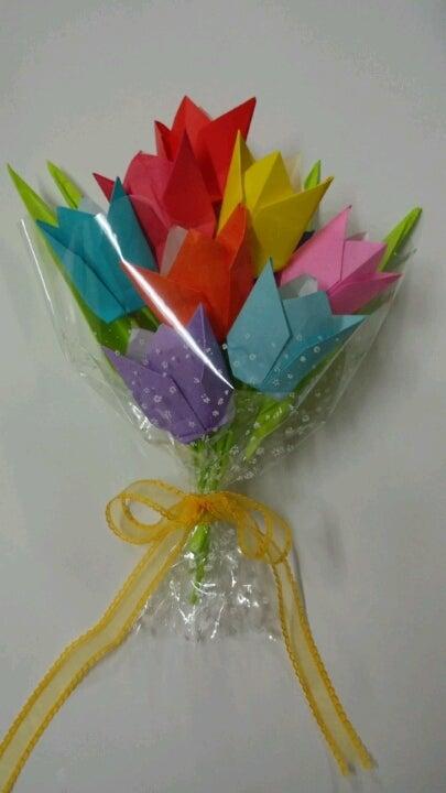 ハート 折り紙 折り紙 チューリップ 花束 : matome.naver.jp