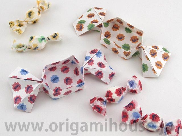 ハート 折り紙 折り紙 キャンディボックス : hagifood.com