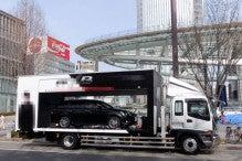 ハマーリムジン ラッピングバス 宣伝、イベント イーグルのブログ-ショールームトラック