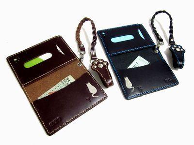 OXIO-CRAFT(オキクラ)の「革雑貨」制作日記-ペアパスケース
