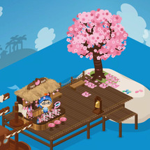 港の桜バー、オープン…