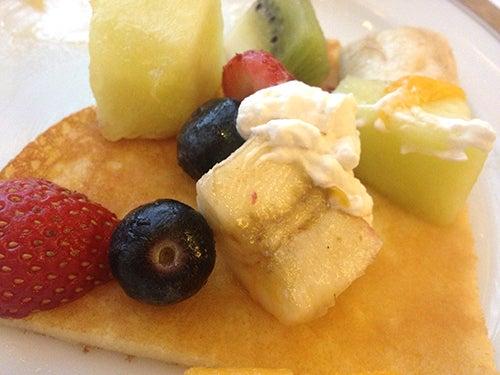 むーさんブログ-パンケーキフルーツいっぱい
