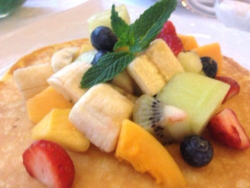 むーさんブログ-ホテルオークラパンケーキフルーツ