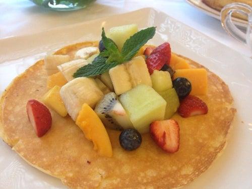 むーさんブログ-ホテルオークラパンケーキ