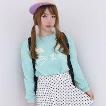 ストリート/ボーイッシュ/カジュアルコーデ:ミント猫プルオーバー(予約販売:4/22発送)
