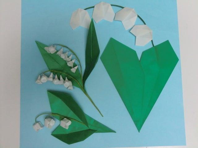 ハート 折り紙:折り紙すずらん折り方-ameblo.jp
