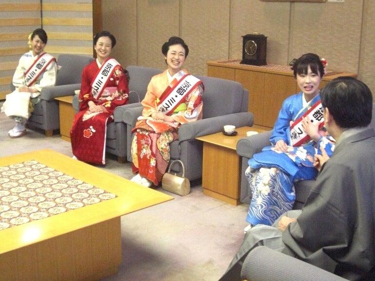 京都きものオーディション-京都府知事表敬訪問