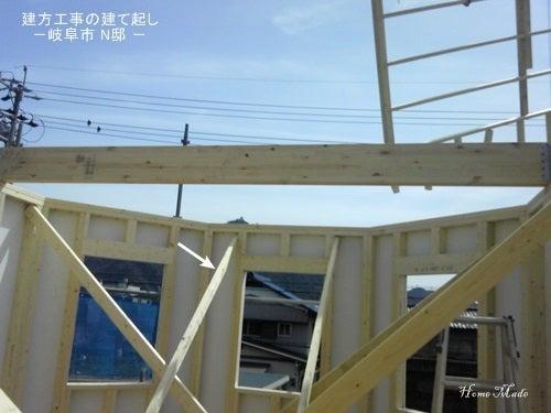 $住まいと環境~手づくり輸入住宅のホームメイド-建て起し作業