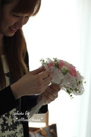 $仙台市泉区プリザーブドフラワーアレンジ教室花のアトリエ*ミントグリーン*