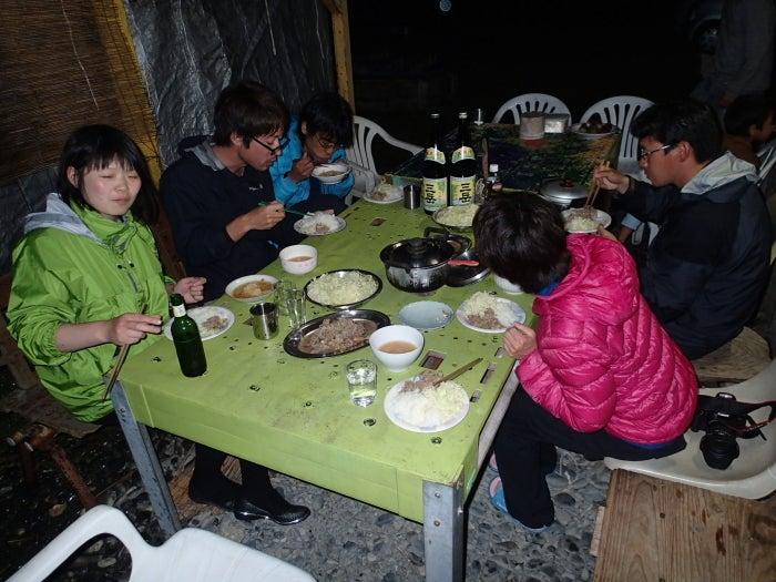 $歩き人ふみの徒歩世界旅行 日本・台湾編-夕食
