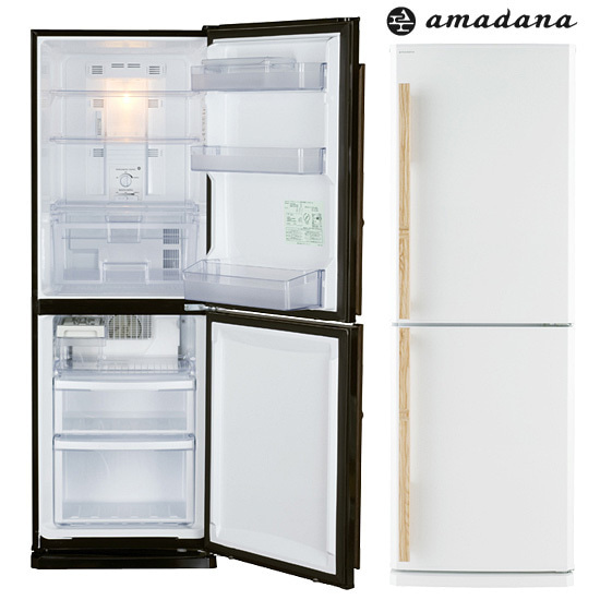 amadana アマダナ 冷蔵庫 デザイン家電 2ドア ZR-441