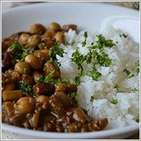 ホントはクマシーが好き。-大豆とゴボウと挽肉の薬膳風カレー
