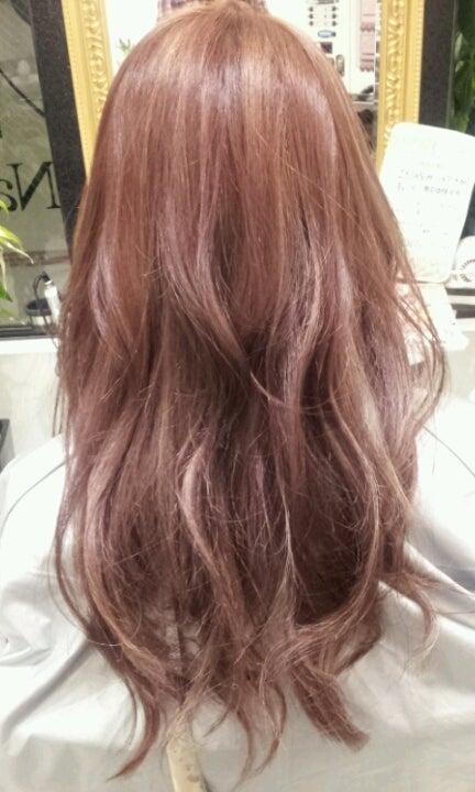 カシスブラウン~ラベンダーピンク~ホワイトピンクのグラデーションカラー !