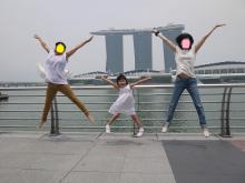 シンガポールの空に笑え!