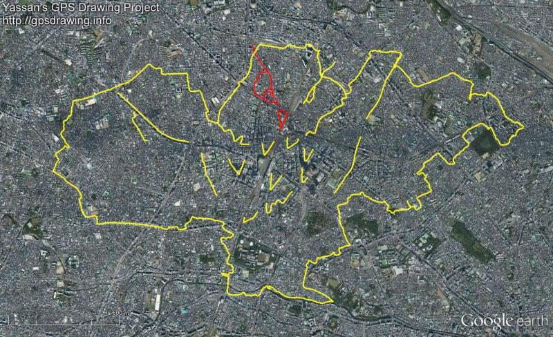 やっさんのGPS絵画プロジェクト -Yassan's GPS Drawing--GPS進捗130502