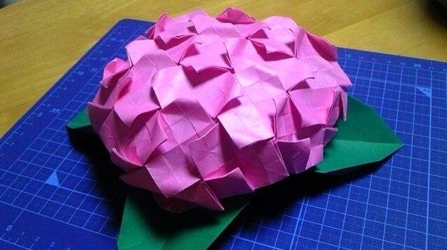 折り紙の:あじさい 折り紙 立体-divulgando.net
