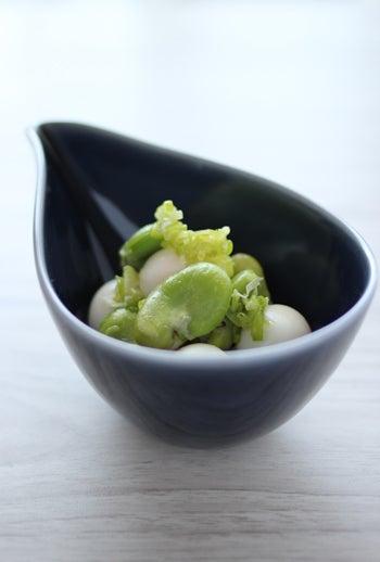 simple-空豆とうずらのネギ塩炒め