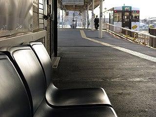晴れのち曇り時々Ameブロ-石巻駅ホームにて