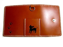 OXIO-CRAFT(オキクラ)の「革雑貨」制作日記-犬のキーケース