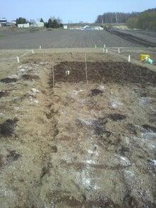 おっちゃんの畑2013、畑の上にも3年。-鍬入れ開始