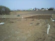 おっちゃんの畑2013、畑の上にも3年。-鍬入れ2区画完了