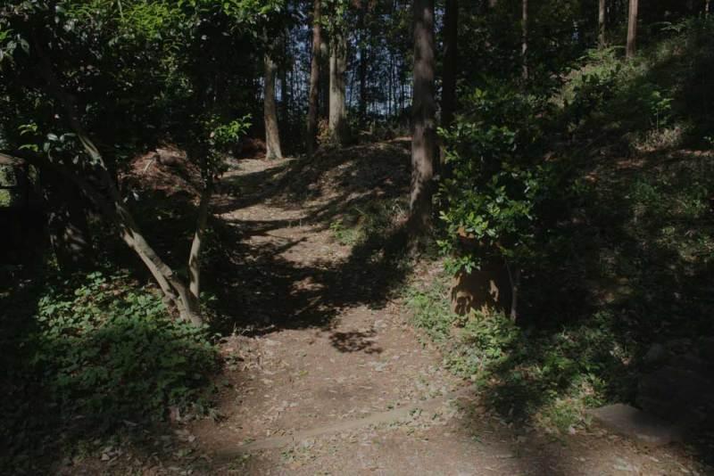 梶原氏館/八幡神社の西にそれらしい道