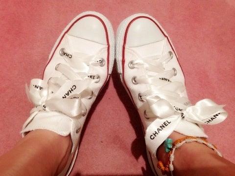 スニーカーもかわいさup♪靴紐 ...