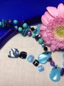 nailsalon M-cureのブログ-ブルーのプッチ柄のフットネイル