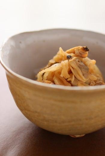 simple-あさりと切干大根の味噌バター煮