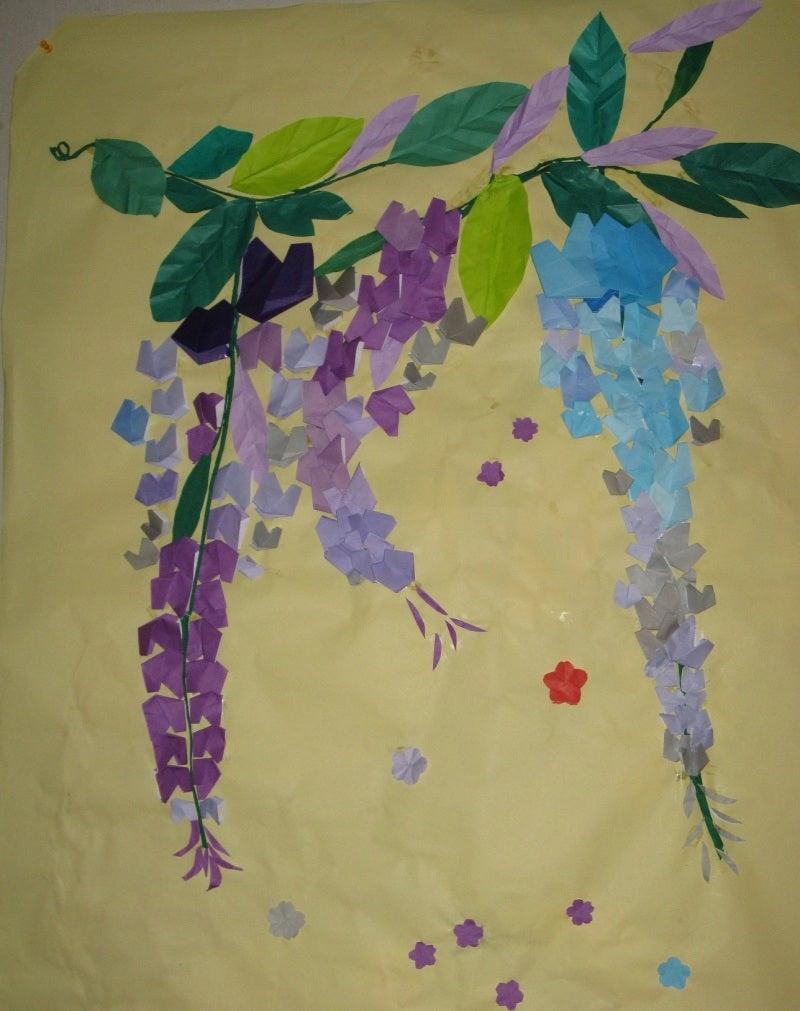 すべての折り紙 色んな折り紙 : 手作りの藤の花 ...