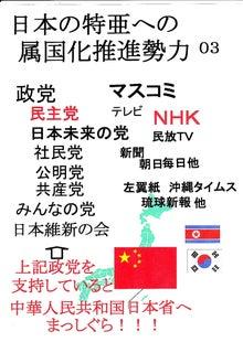 $日本人の進路-日本の特亜への属国化推進政党