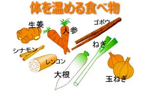 アンチエイジングが自宅で簡単に実践できるブログ-体を温める食べ物