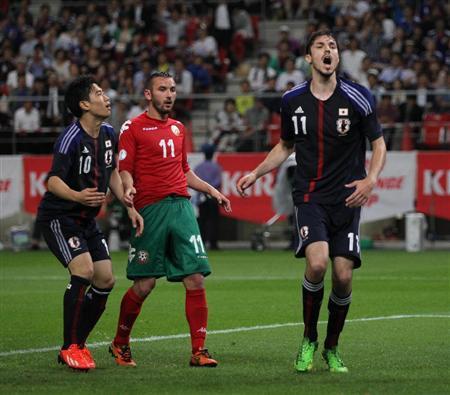ハーフナー・マイク ブルガリア戦 日本代表 サッカー キリンカップ 親善試合 試合結果