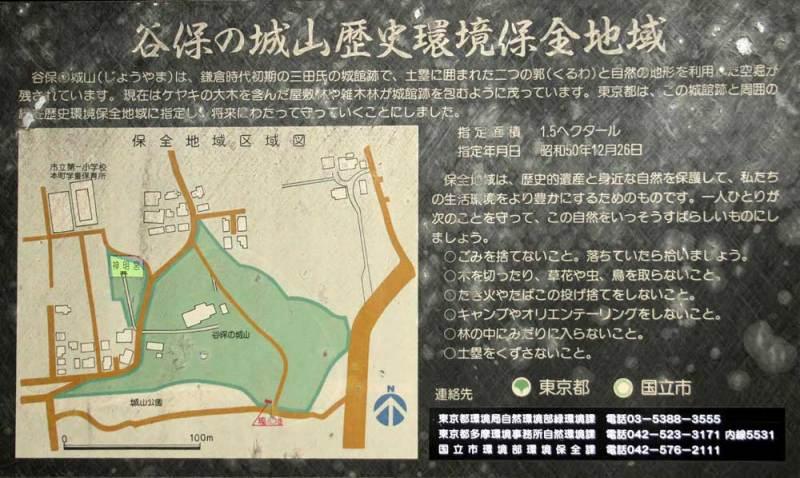 三田氏館/東京都環境局の説明板
