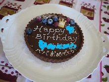 北京での小さなできごと        La vie avec les gateaux  -お誕生日 Tarte chocolat1