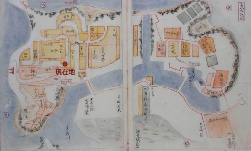 名島城/古城図