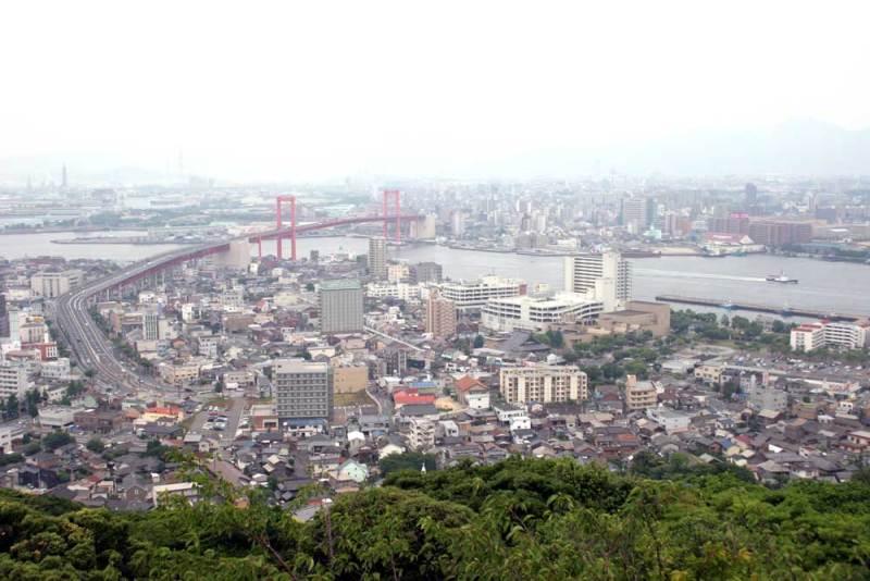 高塔山城/展望台からの眺め