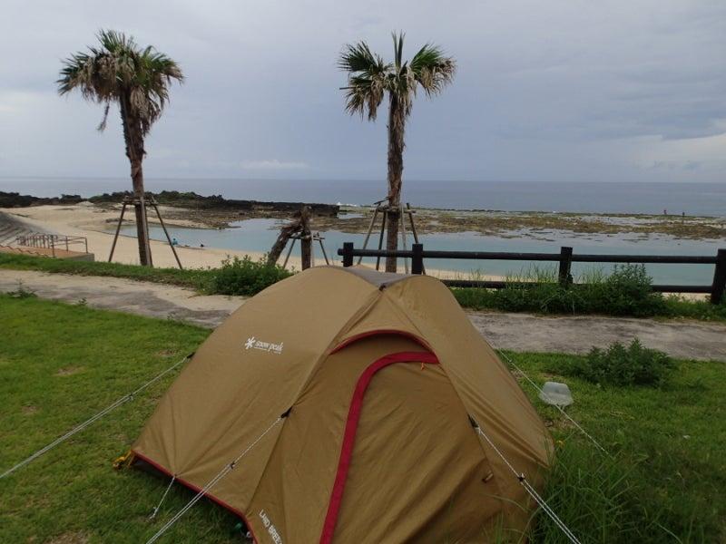 $歩き人ふみの徒歩世界旅行 日本・台湾編-ビーチでキャンプ