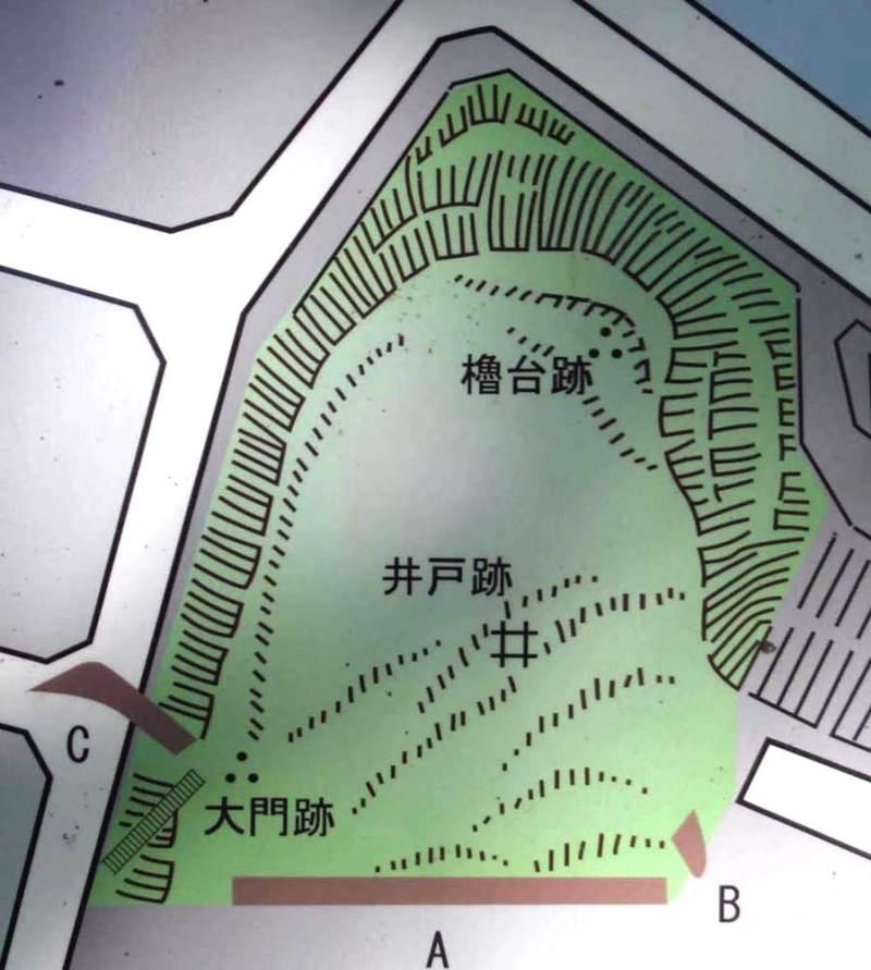成瀬城/城跡の図