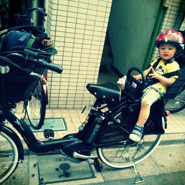 自転車の ベビー 自転車 電動 : こども乗せ電動自転車デビュー ...