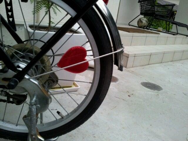 自転車の 自転車 反射板 前 : かわいい自転車の反射板|NAO'S ...