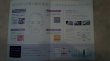 $1/f feminine祭のブログ*-POLAさん 肌診断の新しいパンフレット